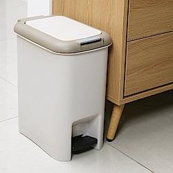 創意達人 凱米雙用腳踏垃圾桶(中)10L-2入組