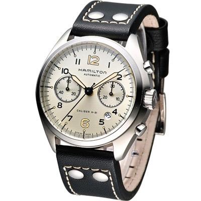 Hamilton Khaki Pilot Pioneer 計時機械錶-/淺香檳色/41mm