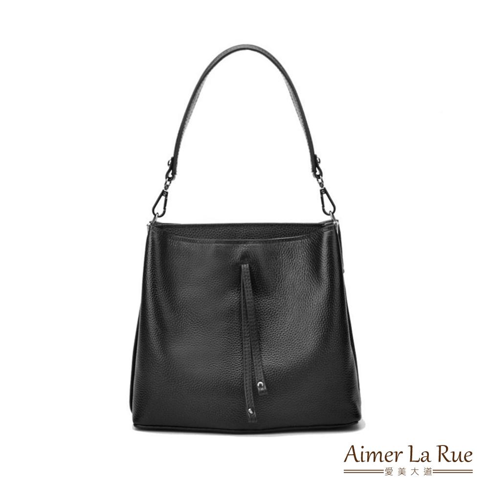 Aimer La Rue 真皮手提側背包 雅緻雙袋系列(三色)