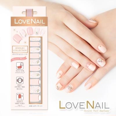 LOVE NAIL 持久指甲油貼 水鑽珠寶盒系列 女伶璀璨毛呢