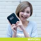 MIRYOKU-質感斜紋系列 / 俏麗直式拉鍊短夾-黑