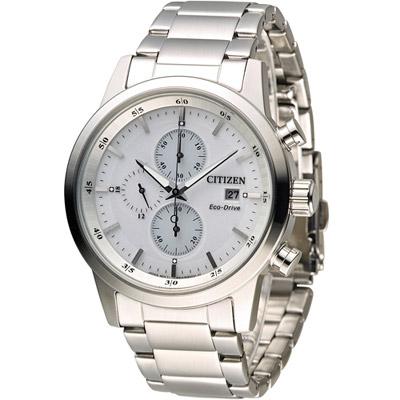 CITIZEN 星辰 極速豪傑光動能計時腕錶(CA0610-52A)-銀/43mm