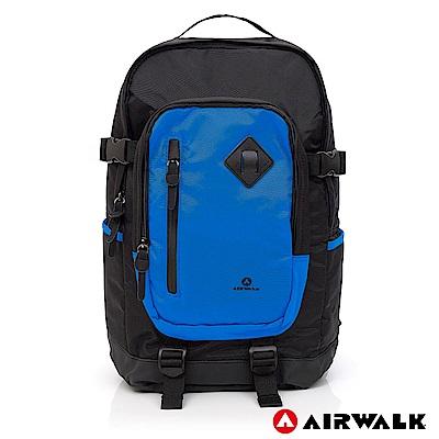 【AIRWALK】都市系列 多功能調節式運動筆電後背包-藍