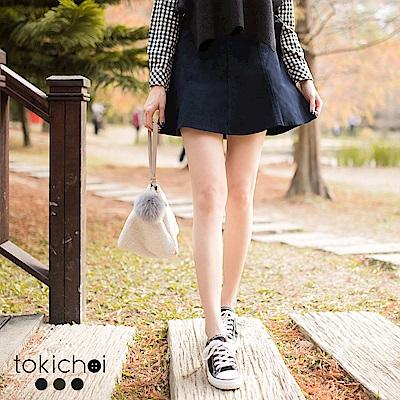 東京著衣 多色個性帆布紋短裙-S.M(共三色)