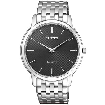 CITIZEN 低斂風尚光動能超薄手錶(AR1130-81H)-碳灰/39mm