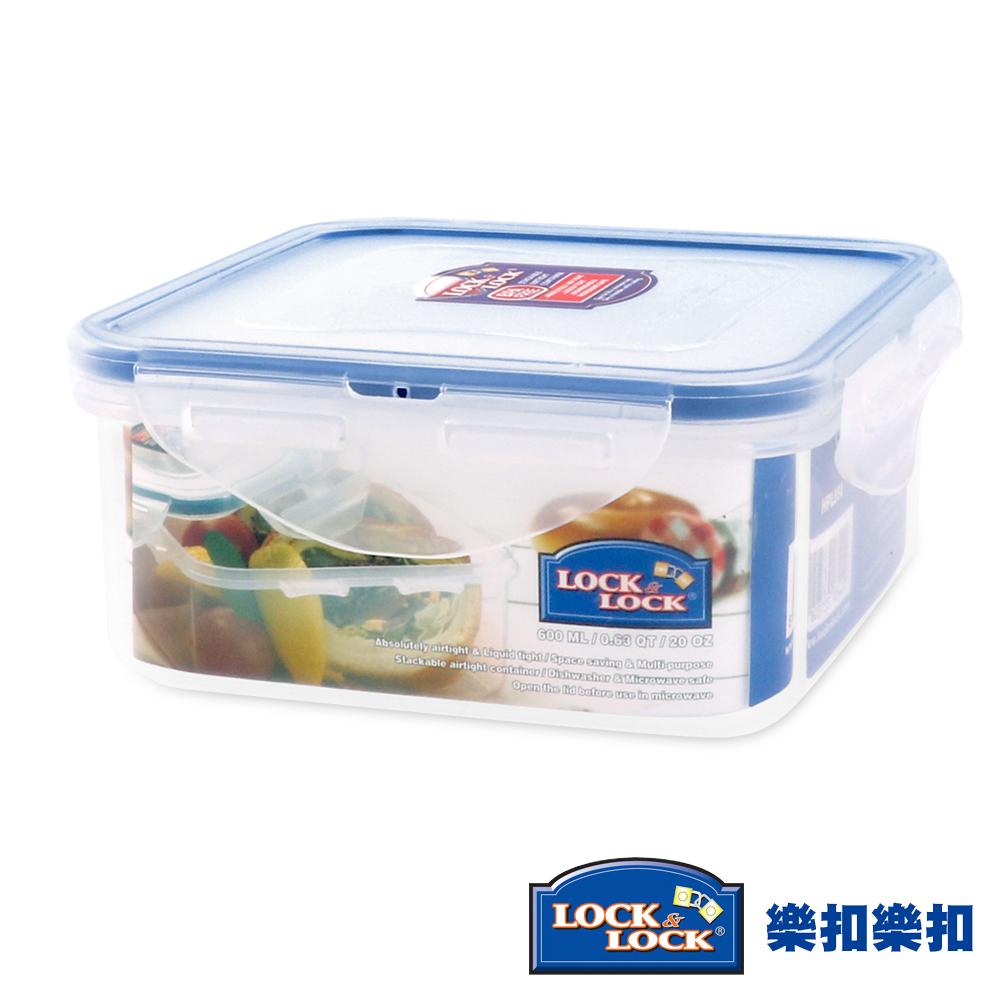 樂扣樂扣CLASSICS系列PP保鮮盒-正方形600ML(8H)