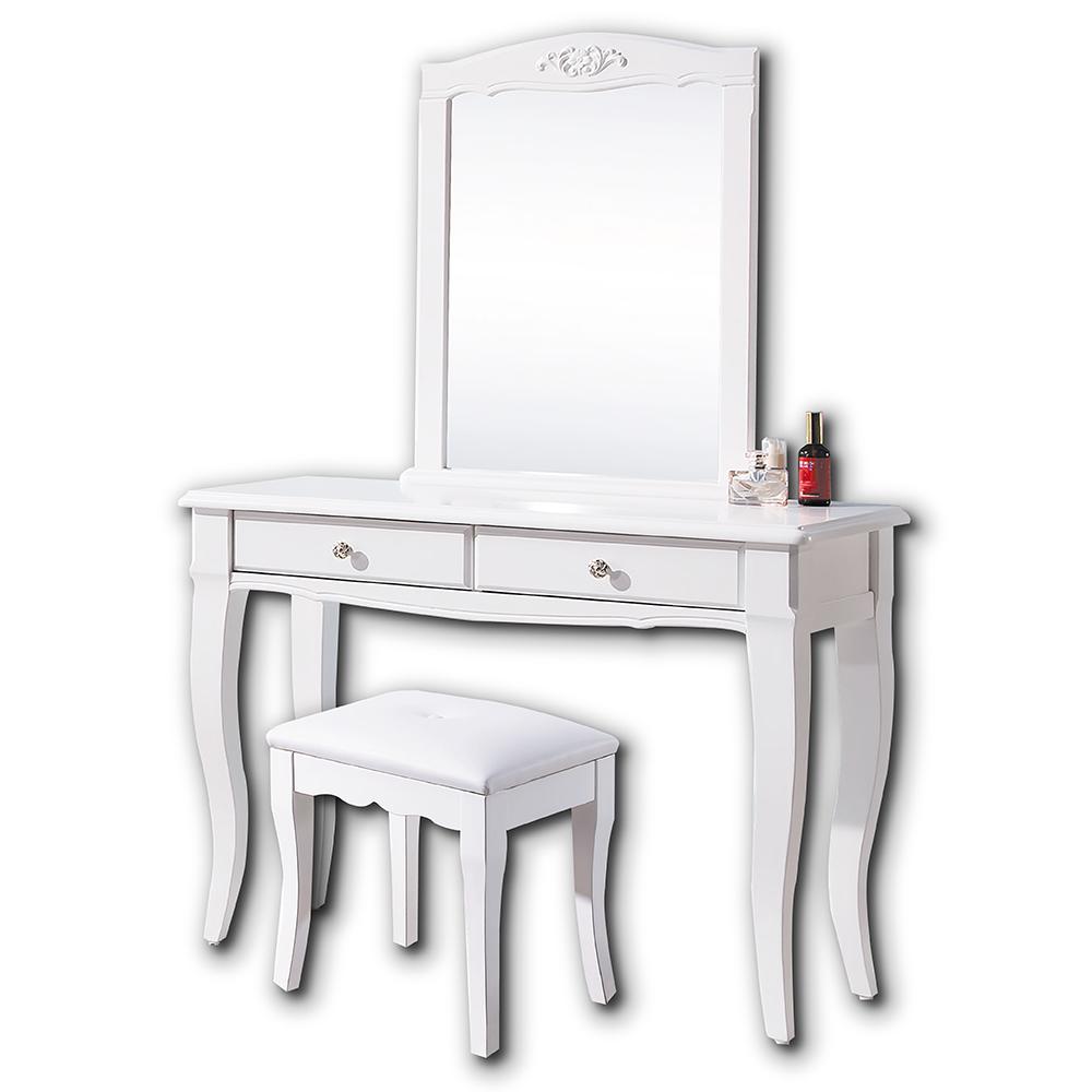 AS-Florrie3.3尺化妝桌椅組-100x41x151cm