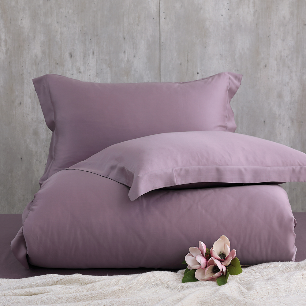 Cozy inn 多維爾紫 雙人四件組 100%萊賽爾天絲兩用被套床包組