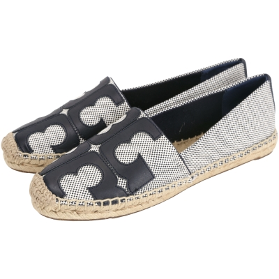 TORY BURCH Tivoli Espadrille黑色品牌圖騰草編鞋