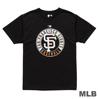 MLB-舊金山巨人隊斑駁造型印花T恤-黑 (男)