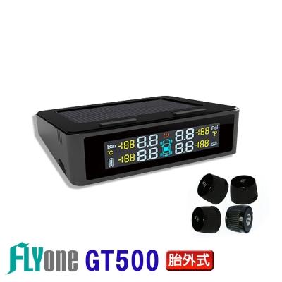 FLYone GT500 無線太陽能TPMS 四輪同測 胎壓偵測器 彩色螢幕- 急速配