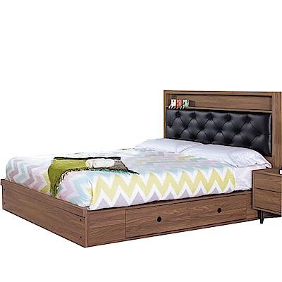 品家居  亞爾維5尺雙人收納床台組合(不含床墊)-152x201x114cm免組