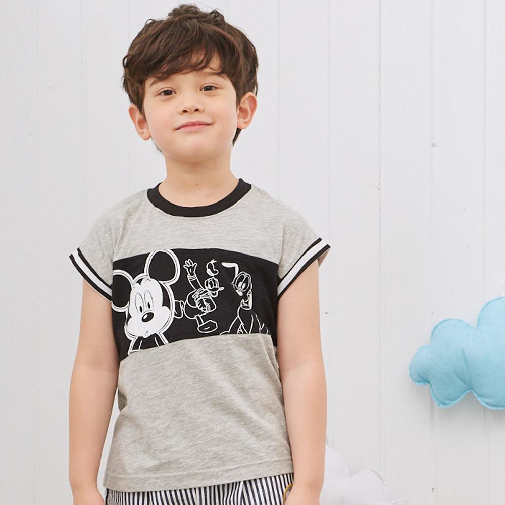 Disney 米奇系列復古運動風連袖上衣 麻花色