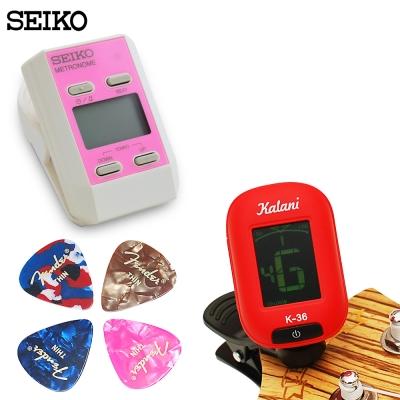 調音器/節拍器/PICK 超值三件組-粉紅組合