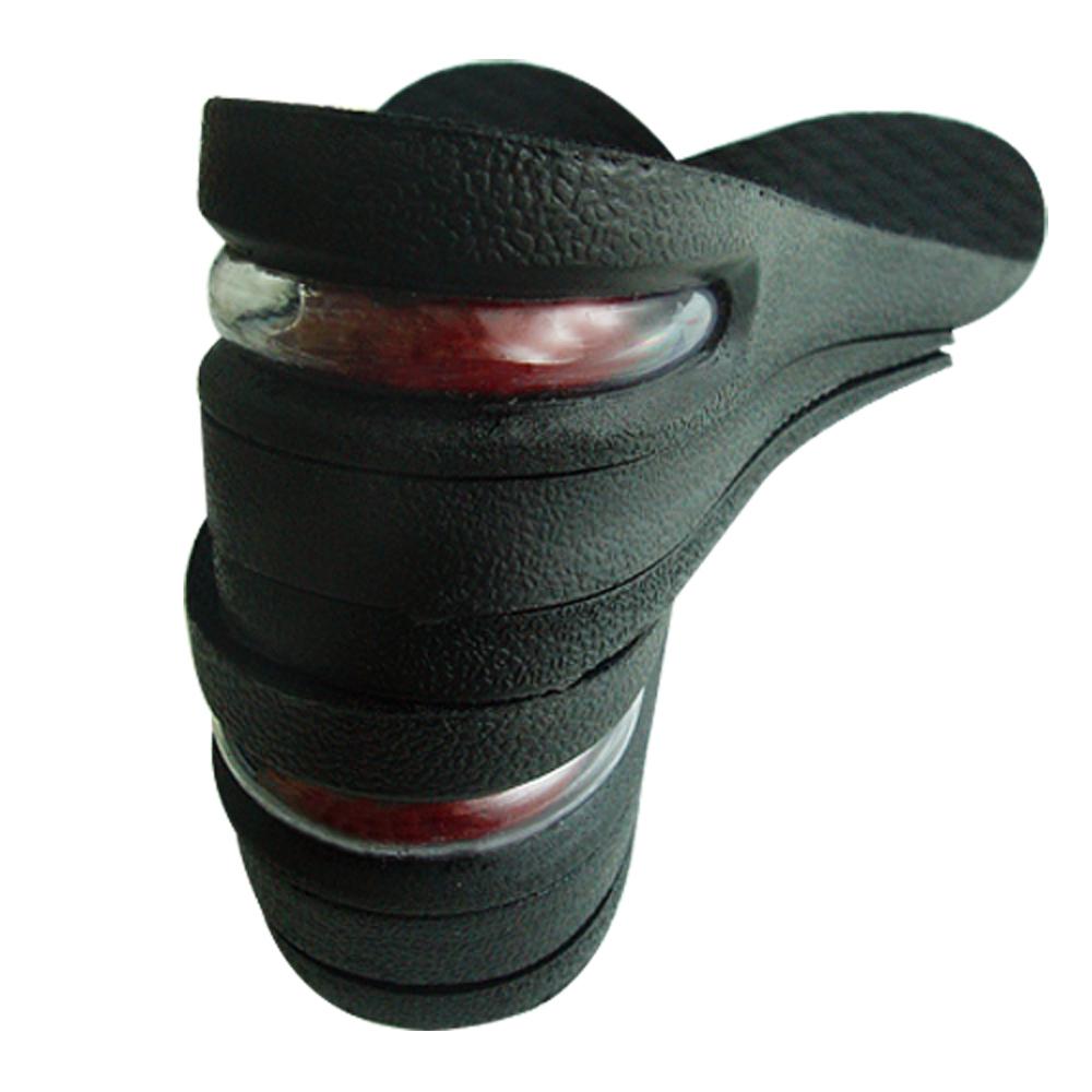 足的美形 黑色三層女版氣墊增高墊(二雙入)