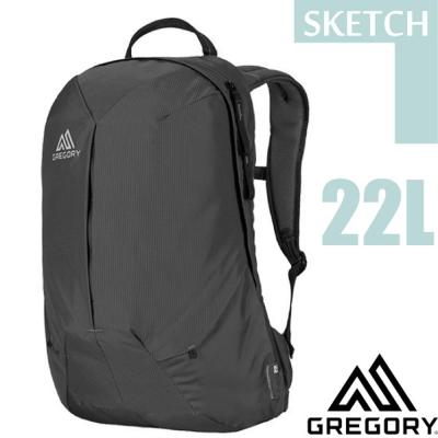 【美國 GREGORY】Sketch 22L 減震透氣耐磨防潑水登山健行後背包/ 正黑
