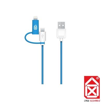 PANTONE LIGHTNING + MICRO 雙規傳輸線 MFi 認證 (藍)
