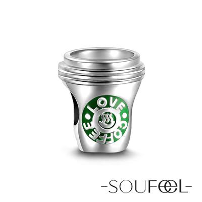 SOUFEEL索菲爾 925純銀珠飾 咖啡 串珠