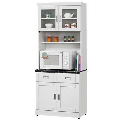 時尚屋 菲爾2.7尺石面餐櫃組可選色