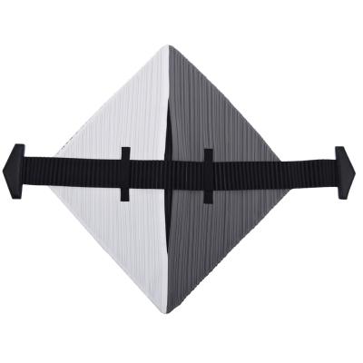 ISSEY MIYAKE 三宅一生 PP系列 FLAT撞色菱形皺褶手提包(黑白x黑)