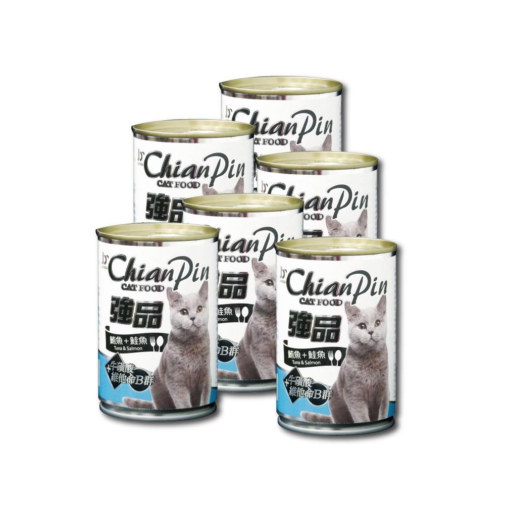 寵物物語-強品貓罐-鮪魚+鮭魚400G-24罐