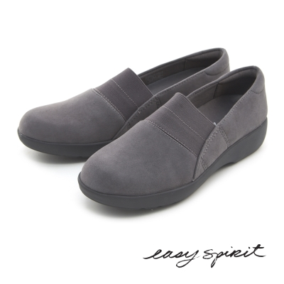 Easy Spirit--異材質拼接輕量休閒平底鞋-溫暖灰