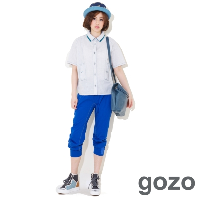 gozo-棉質舒適七分褲-二色