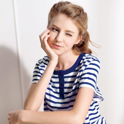 羅絲美睡衣 - 夢遊水手短袖褲裝睡衣(活力藍)