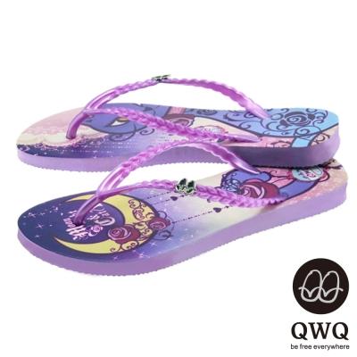 QWQ夾拖的創意(女) - Moon Night&Cat 夾腳拖 -渲紫