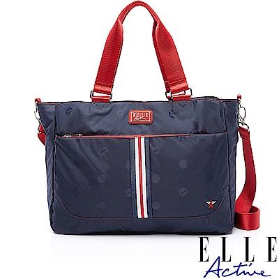 ELLE Active 70周年復刻系列-托特包/肩背包/購物袋-藍色