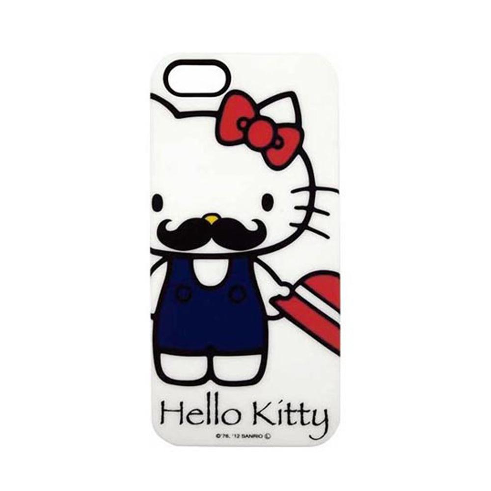 《Sanrio》HELLO KITTY翹鬍子系列 iPhone5保護殼