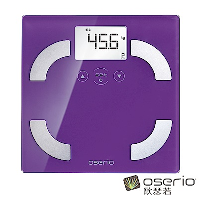 oserio歐瑟若 時尚多彩中文體脂計 (神秘紫FLG-351P)