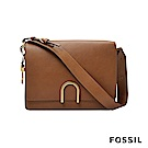 FOSSIL FINLEY 芬利雙格層真皮包-焦糖摩卡