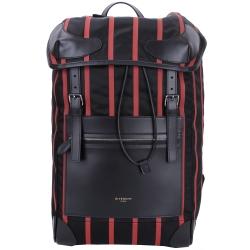 GIVENCHY RIDER 紅條紋後背包(黑色/100%POLYAMIDE)