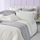 Cozy inn 倒影-純白 300織精梳棉四件式被套床包組(加大)