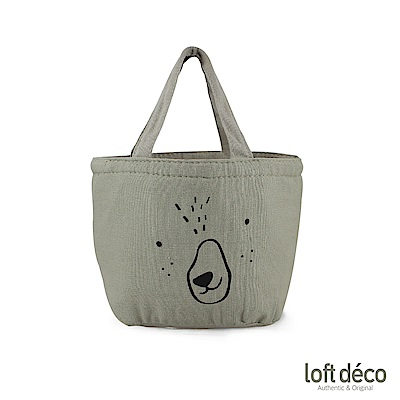 Loft Deco | Gray bear | 束口保溫萬用袋