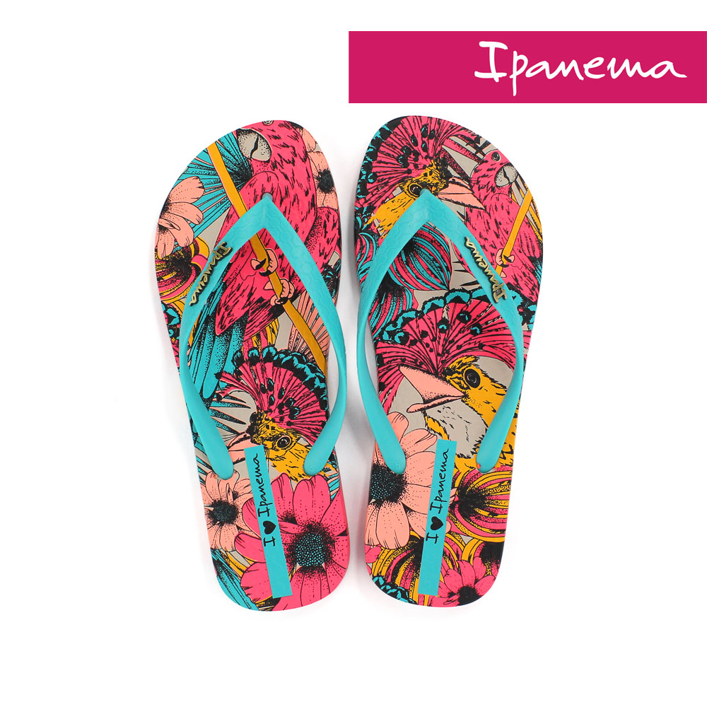 IPANEMA 女 熱帶動物園夾腳拖鞋-土耳其藍
