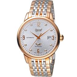Ogival 瑞士愛其華 1929 復刻紀念機械錶(1929-5AJGSR)雙色/40mm