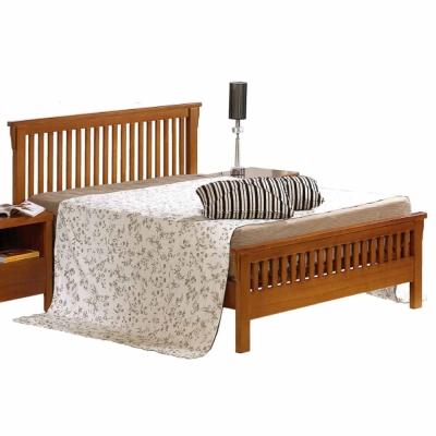 AT HOME - 魯娜3.5尺柚木單人床 (不含床墊)