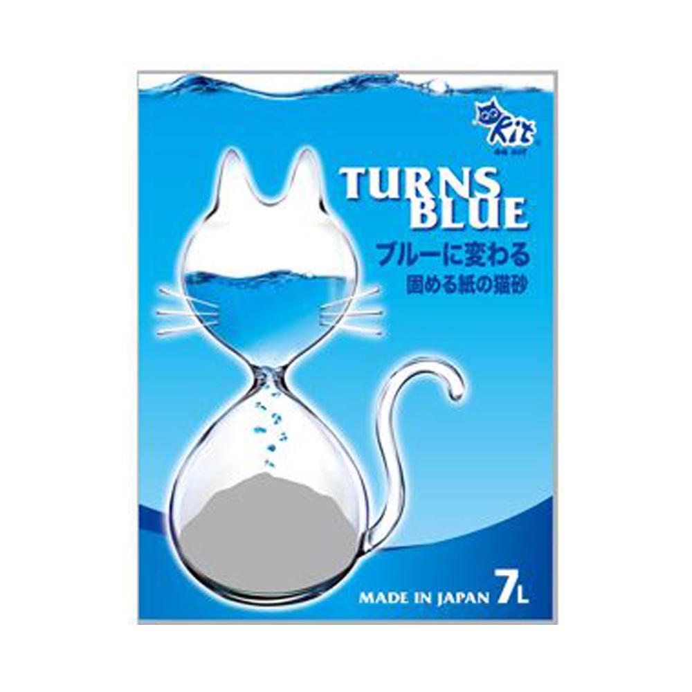 6包組 QQ KIT變藍色環保紙貓砂7L