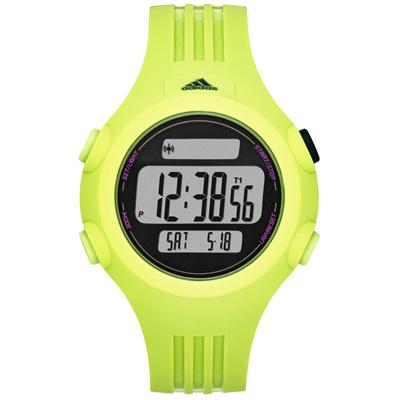adidas 勁戰狙擊大面板電子腕錶-綠/42mm