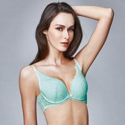 La Felino- 蘇珊娜一體成形深V泡棉款B-E罩杯內衣 (湖水綠)