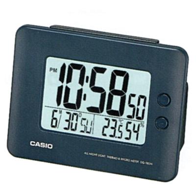 CASIO 全方位溫濕度感應貪睡數位鬧鐘(DQ-982N-2D)-深藍色
