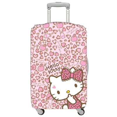 LOQI行李箱套 Hello Kitty豹紋M號 適用22-27吋行李箱保護套