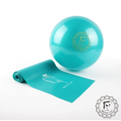 Fun Sport 小跟班瑜珈球(1顆-20cm)+彼拉提斯彈力帶(加長180cm-1條)