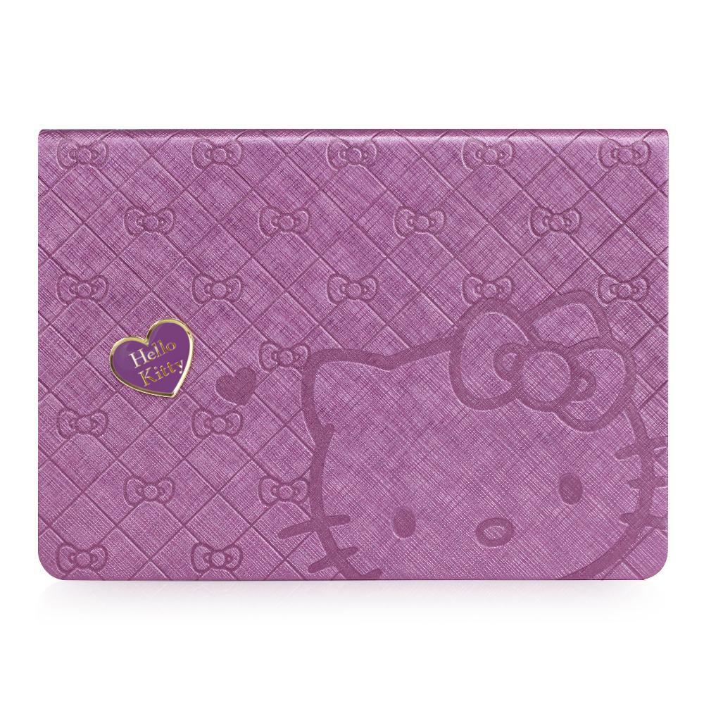 GARMMA Hello Kitty iPad Air 360度旋轉摺疊式皮套–心戀紫色
