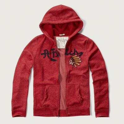 AF a&f Abercrombie & Fitch 長袖 連帽外套 紅色 288