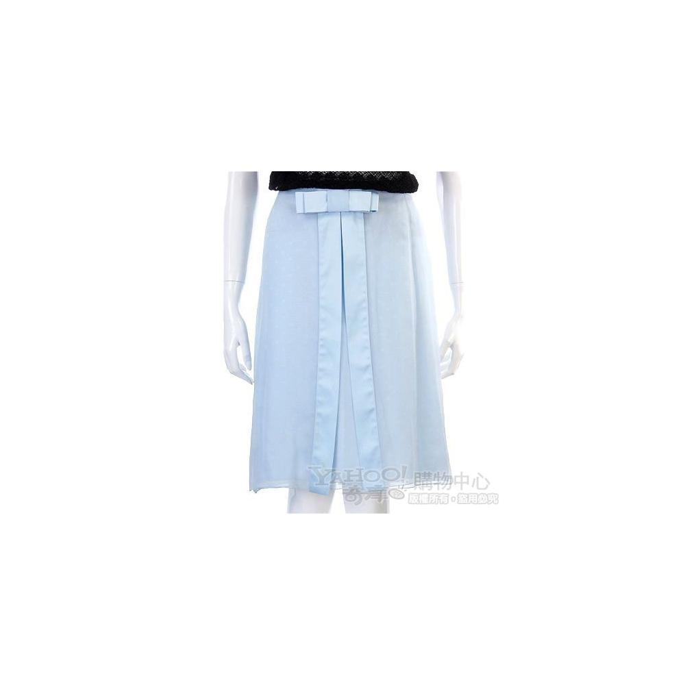 VALENTINO 藍色蝴蝶結點點裙