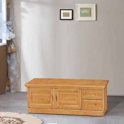 凱曼 凡爾賽4尺實木坐鞋櫃