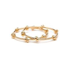 CC SKYE 好萊塢 巨星款 真愛情結 細緻雙圈 金色手環